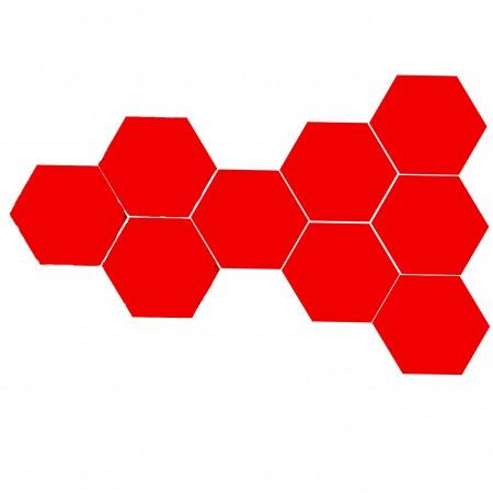 Altıgen Kırmızı Çini Karo 16 cm KIPKIRMIZI