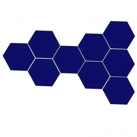 Altıgen Kobalt Çini Karo 16 cm