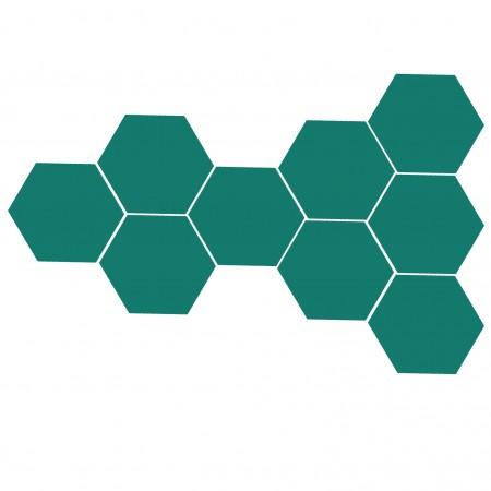 Altıgen Turkuaz Yeşili Çini Karo 16 cm